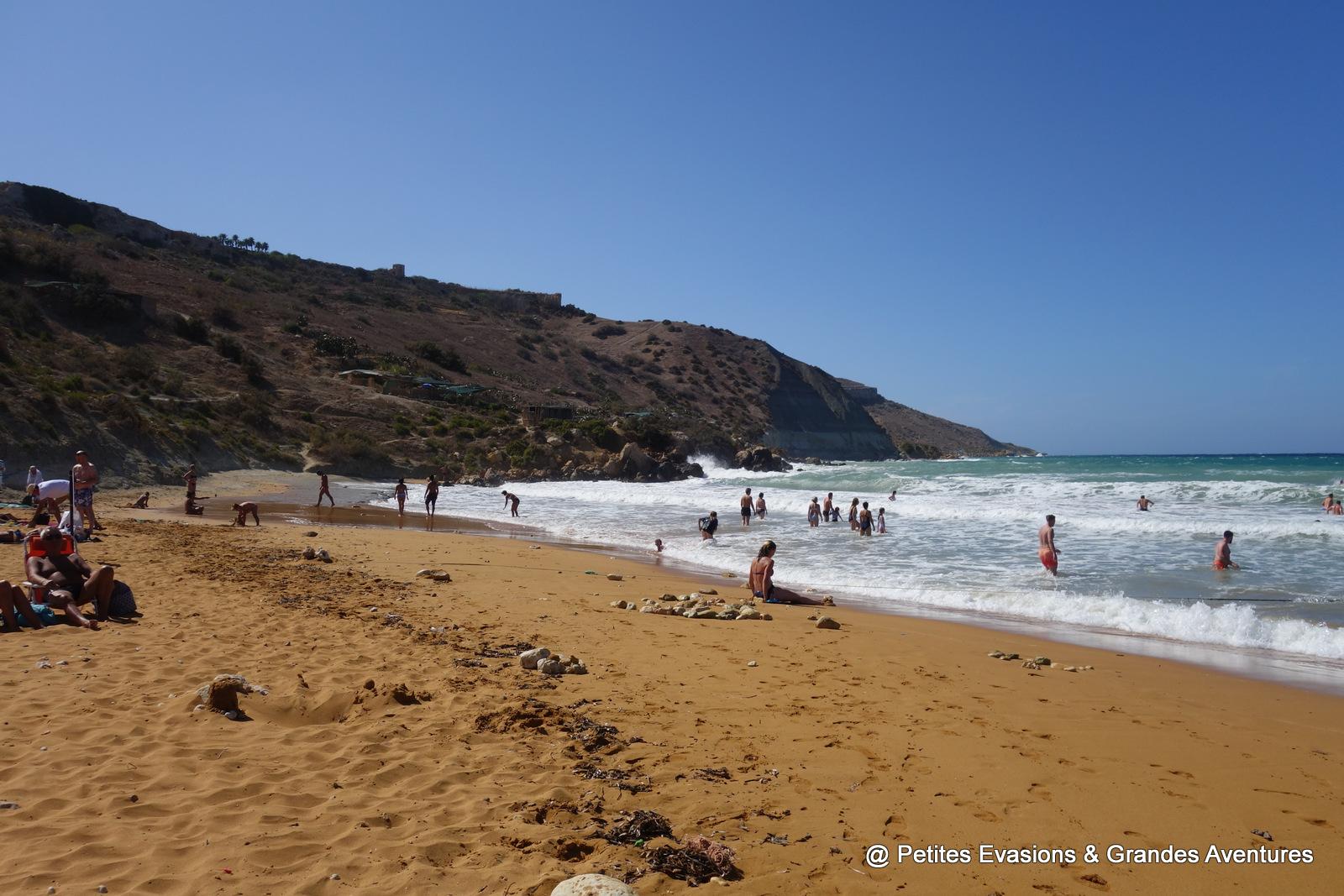 La plage deIr-Ramla (Gozo)