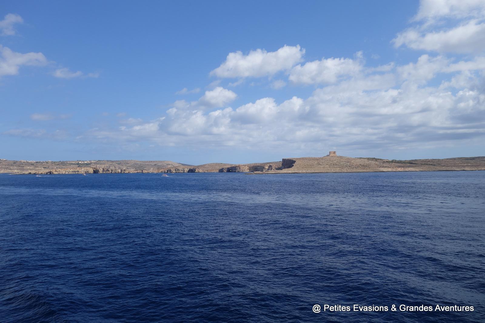 Vue sur Comino et Gozo depuis le ferry