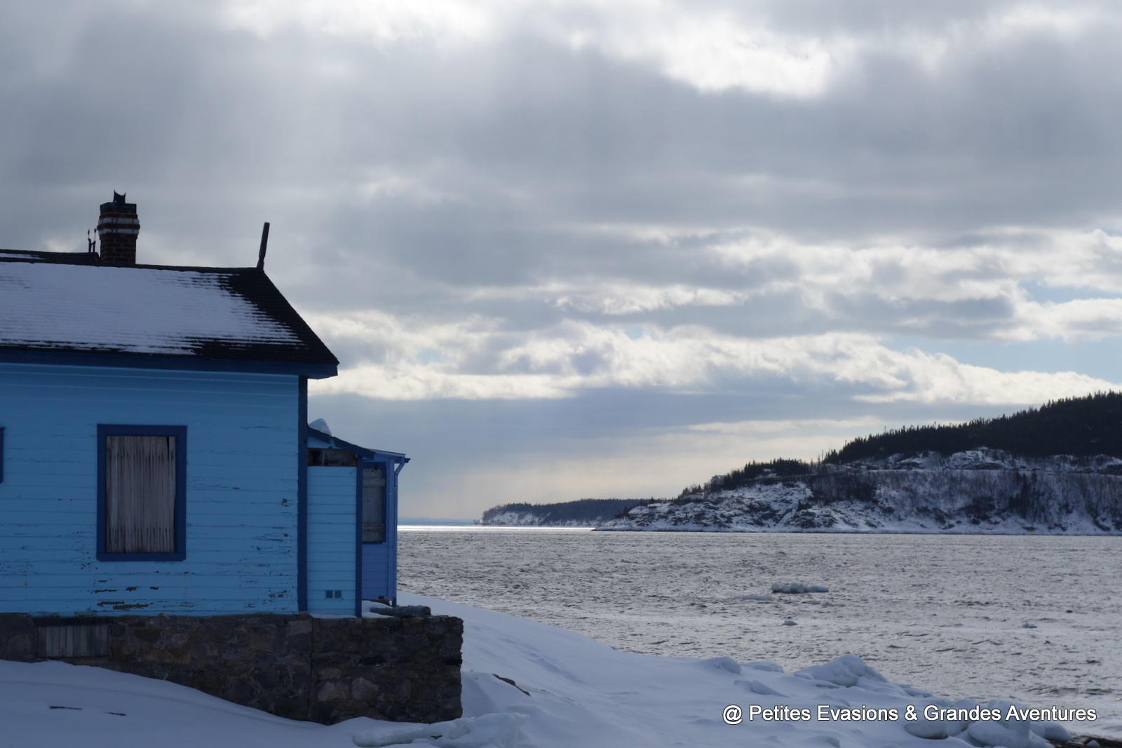 Vue sur l'embouchure de la Rivière Saguenay