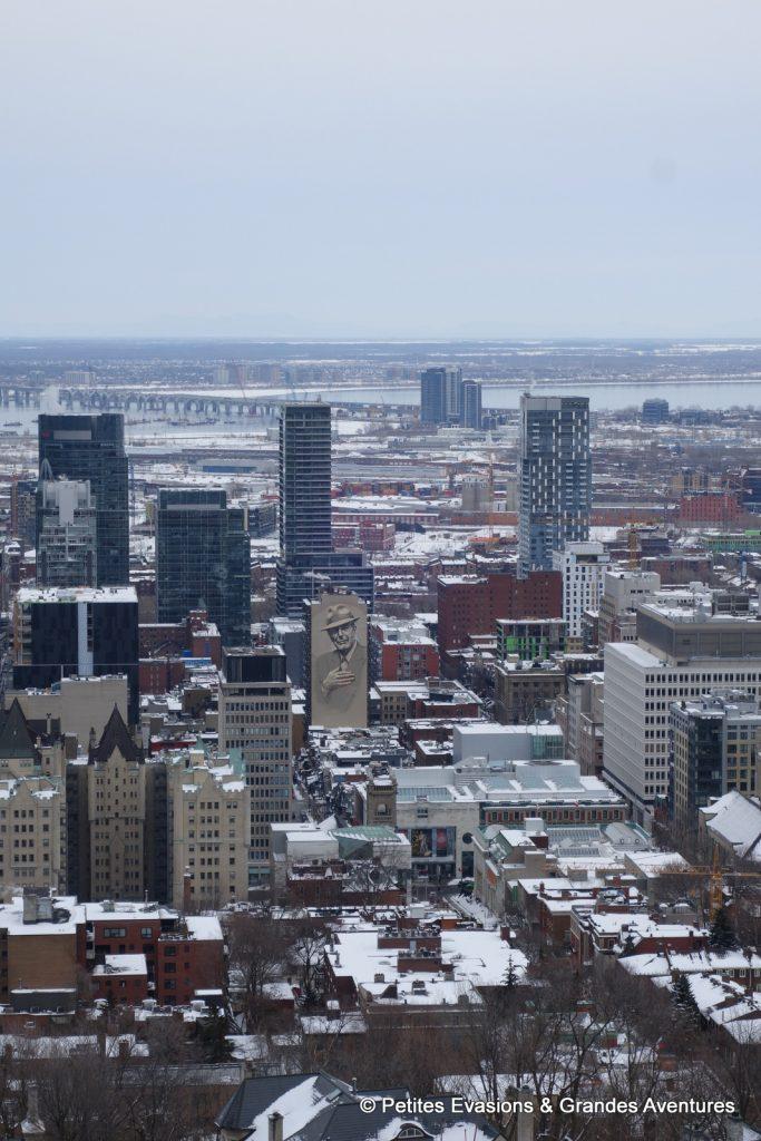 Vue sur la ville et le Saint-Laurent depuis le belvédère Kondiaronk