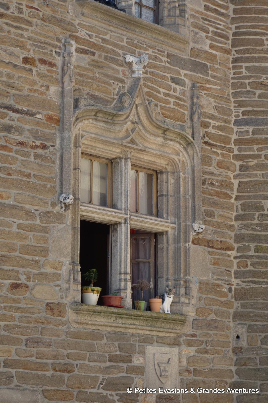 Fenêtre de la Maison Eyssartier Uzerche