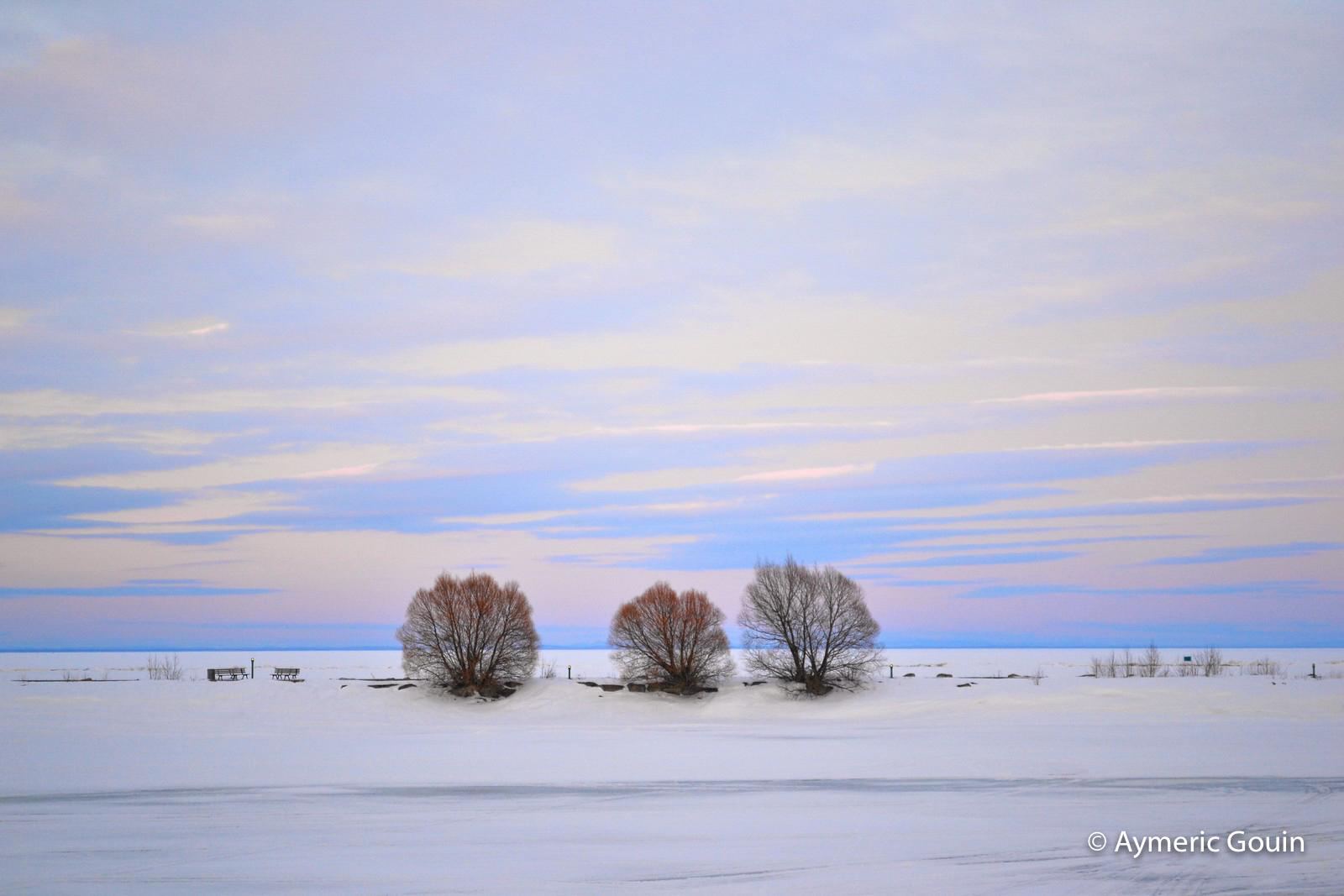 Lac Saint-Jean Québec hiver