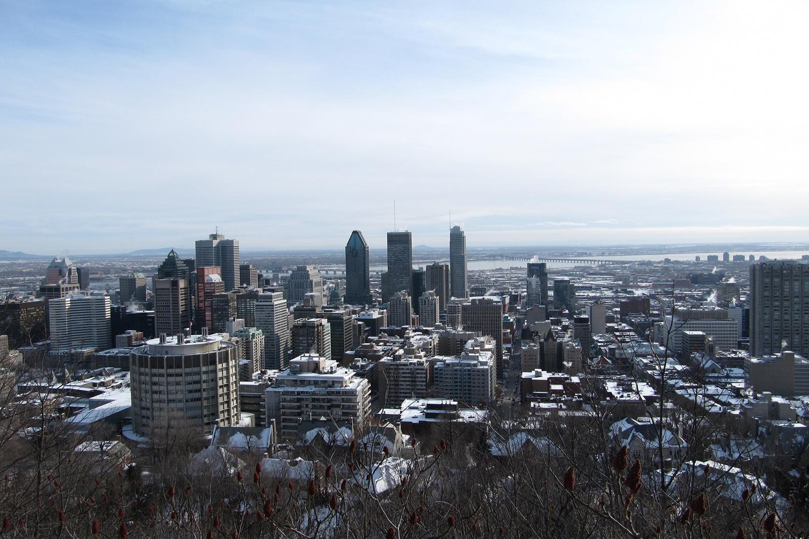 Montréal depuis le Mont Royal hiver